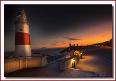 Europa Point Sunset (Deek Wilson) Tags: europapoint trinitylighthouse lighthouse sunset gibraltar mediterraneansea straitofgibraltar therock nightphotography afterdark night