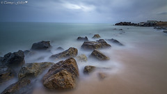 Dreamy (Tanmay's Gallery) Tags: nikon 1224 d7100 europe spain water slowshutter lee bigstopper landscape sea stone rock smoky