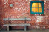 All in all it's just another brick in the wall (A Great Capture) Tags: window urban industrial bench brickwall agreatcapture april22018 brickworks evergreenbrickworks agc wwwagreatcapturecom adjm ash2276 ashleylduffus ald mobilejay jamesmitchell toronto on ontario canada canadian photographer northamerica torontoexplore spring springtime printemps blue red yellow