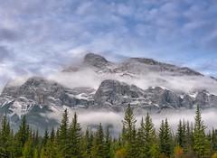 Misty Mountain (Philip Kuntz) Tags: mtrundle waskahiganwatchi fog mists morning autumn banff banffnationalpark canmore canada