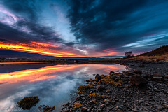 _DSC3372 (MarcusXD1974) Tags: iceland akureyri eyjafjörð sunset stones landscape longexposure mountains red blue trees seascape serene bay grass forest sand coast black beach clouds fjord golden hour nikon d7200 sigma 1020f35 bridge