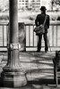 Portland Waterfront (Ian Sane) Tags: ian sane images portlandwaterfront man dark clothes walking cane governor tom mccall waterfront park downtown portland oregon black white candid street photography willamette river canon eos 5d r camera ef70200mm f28l is usm lens monochromemonday
