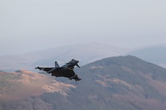Spartan flight, pair of 2sqn Typhoons from RAF Lossiemouth in LFA7 (dominicegerton) Tags: fgr4 typhoon lossiemouth 2squadron spartan lowlevel machloop lfa7