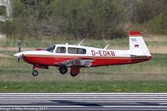 D-EOKB - 1997 build Mooney M.20R Ovation, arriving on Runway 24 at Friedrichshafen during Aero 2017 (egcc) Tags: 290122 aero aerofriedrichshafen aerofriedrichshafen2017 bodensee deokb edny fdh friedrichshafen lightroom m20r mooney ovation