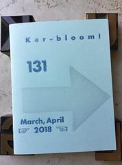 Ker-bloom! issue 131 (artnoose) Tags: kerbloom zine letterpress arrow wood type ursula leguin science fiction perzine portland powells books blue etsy patreon fan manticule