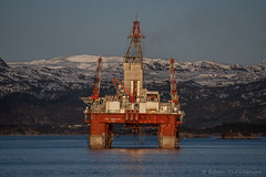 West  Hercules (Esbern Christiansen) Tags: 8768763 deepwater environments gva7500 hercules nature westhercules drilling drillingrig imo imo8768763 mountain mountainside norway ocean oil oilindustry oilplatform oilrig outdoor plat sea semisubmersible snow water waterfront west