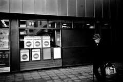 Shadowman (gborgskij) Tags: pocket shadow man black white olympus xa apx 100 gothenburg hc110 film analog majorna sweden hemköp