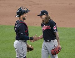 Yan Gomes, Mike Clevinger (Keith Allison) Tags: mlb baseball orioleparkatcamdenyards yangomes mikeclevinger clevelandindians