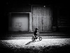 childhood (Sandy...J) Tags: fotografie photography blackwhite bw black white boy bike biker street streetphotography sw schwarzweis strasenfotografie shadow light licht schatten stimmung mood urban monochrom alone allein city stadt cobblestones kopfsteinpflaster noir deutschland germany fahrrad