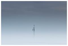 Marker Post (merseamillsy) Tags: tranquil marker calm water minimal mersea minimalist sea longexposure coastline tide coastal island sky seascape formatthitrechfirecrest coast merseaisland markerpost