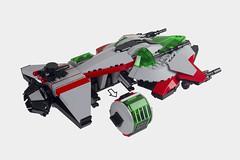 SPII Enforcer (thebrickbin) Tags: lego space spaceship ship sci fi science fiction police 2 ii enforcer spacecraft craft blacktron