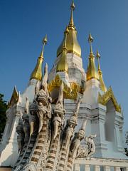 Thailand - Ubon Ratchathani - Temple (st3000) Tags: asia thailand siam seasia southeastasia isan northeast travel countryside lumix gm5 temple wat gold naga