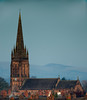Rising above the rooftops (Lluniau Clog) Tags: church stmarys stmaryshandbridge chester stmarywithoutthewalls spire