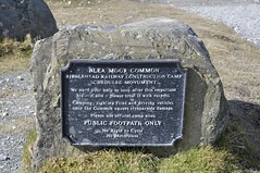 Marker plaque for site of workers camps, brickworks and construction equipment in the 1870's (streetr's_flickr) Tags: ribbleheadviaduct settle carlisle railwaynorth yorkshirenational parkmoorlandblea moorvictorian engineering187075 masonry brickwork arches