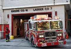 FDNY - Engine 206 (Arthur Lombard) Tags: firedepartment firebrigade firetruck firestation emergency 911 999 112 18 fdny engine engine206 lightbar bluelight seagrave seagravemarauder nikon nikond7200
