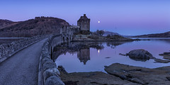 Moon over Eilean Donan Castle (J McSporran) Tags: scotland highlands eileandonancastle cuillinmountains isleofskye lochduich landscape beltofvenus canon6d ef1635mmf4lisusm