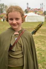 An elven archer (radargeek) Tags: normanmedievalfair2018 norman 2018 oklahoma medievalfair reavespark friday april elf arrows costume kid child portrait