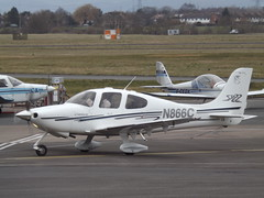 N866C Cirrus SR22 Private (Aircaft @ Gloucestershire Airport By James) Tags: gloucestershire airport n866c cirrus sr22 private egbj james lloyds