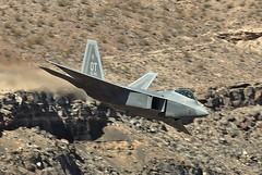 LOW RAPTOR (Dafydd RJ Phillips) Tags: f22 raptor jedi transition star wars canyon rainbow low level death valley