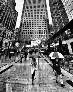 Rainy Day at Canary Wharf