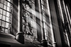 the light (Daz Smith) Tags: dazsmith fujixt20 fuji xt20 andwhite bath city streetphotography citylife thecity urban streets uk monochrome blancoynegro blackandwhite mono window light rays shine church stainedglass jesus