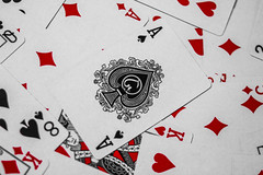 Playing Cards. (f_gray1) Tags: playing cards pattern red black poker game hearts diamonds clubs spades