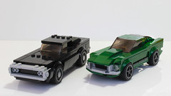 Lego Ford Mustang Bullit (hachiroku24) Tags: lego ford mustang bullitt moc dodge charger speed champions fastback movie car