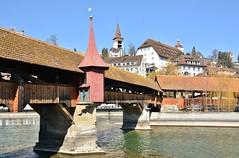 Luzern: Spreuerbrücke (zug55) Tags: luzern lucerne schweiz switzerland suisse spreuerbrücke brücke bridge reuss centralswitzerland innerschweiz zentralschweiz