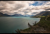 Antarctic winds and clouds sailing over Lake Wakatipu near Queenstown, New Zealand (jitenshaman) Tags: travel destination worldlocations oceania newzealand southisland outdoors nature natural sky skies color colour colors colours mountains snow landscape landscapes lakewakatipu wakatipu queenstown glenorchy winds windy wind clouds cloudy weather antarctic otago bennetsbluff road drive winding longexposure motionblur