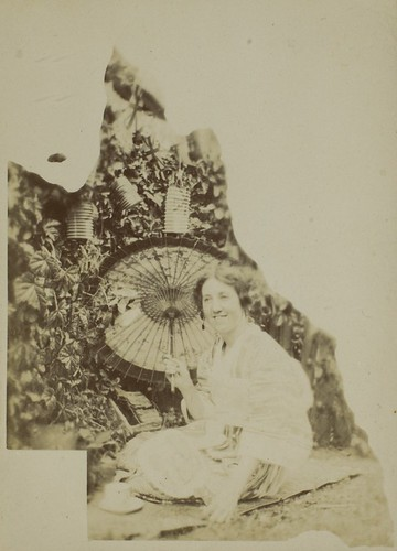 Female member of the Bisset Family wearing Japanese dress, Crows Nest, Queensland
