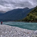 Haast River at Roaring Billy Falls thumbnail