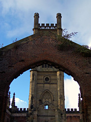 The Bombed Out Church, Liverpool, England (teresue) Tags: 2017 england uk unitedkingdom merseyside liverpool greatbritain church bombedoutchurch stlukeschurch gradeii ruins