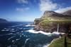 Gásadalur (Rene Wieland) Tags: fã¤rã¶er faroeislands färöer faroe waterfall wasserfall nature ocean rough coast travel explore mountain