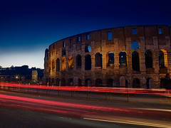 lost in time (tommy1905195) Tags: ifttt 500px colosseum rome city citylights nighttime ancient traffic longtime exposure roma