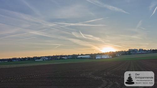 Sonnenaufgang über Nieder-Olm und Rheinhessen-Touristik