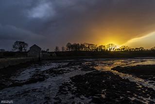 Tidal mill sunset