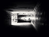 Transition (Blackcatstudio) Tags: crosswalk underground blackwhite street city human man walk one lumix panasonic gx80 leica 15 17