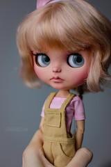 Rosie (OOAK Custom Blythe doll) (U N N I E D O L L S) Tags: blythedoll blythe ooakblythe customblythe customizedblythe rosegold unniedolls cuteblythedoll cuteblythecustom pastelblythe shortblythehair