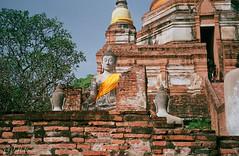 Ayutthaya (D. R. Hill Photography) Tags: thailand asia southeastasia film analog 135 35mmfilm yashica yashicaelectro yashicaelectro35mc 40mm primelens fixedfocallength agfa agfavista agfaphotovistaplus200 vista ayutthaya travel buddha buddhist buddhism