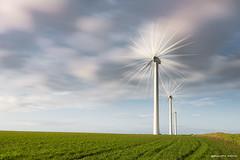 Eoliènnes de Trézien (Kambr zu) Tags: erwanach kambrzu finistère bretagne tourism ach vent ciel compagnieduvent plouarzel engie parconshore energie champ electricité pales