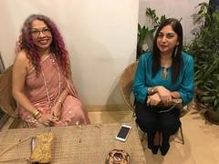 cousins Neeta and Seema (olive witch) Tags: 2017 abeerhoque bangladesh bd dec17 december dhaka fem night outdoors pair sari