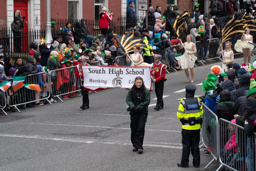 Lakeville South High School Marching Cougars [Dublin Parade March 17 2018]-137666