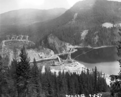 Aerial of Boundary Dam, 1967 (Seattle Municipal Archives) Tags: seattlemunicipalarchives seattlecitylight pendoreille dams hydropower hydroelectricity mountains aerials 1960s