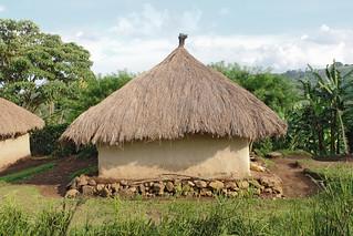 Village traditionnel à proximité de Rwenzori, en Ouganda
