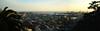 Sun goes by and a plane is coming (moniq84) Tags: sun goes by sunny day tramonto sunrise sunset panoramic view lanterna port genoa sky skyscapes city cityscapes genova liguria italia italy sea tree landscape nikon sigma backlight flight plane skyline light palace palaces