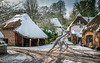 Village Snow (RTA Photography) Tags: cockington village winter snow torbay thatched rooftop picturesque rural spring2018 nikon d750 tamron2470 trees scenic weather outdoors cottages ice