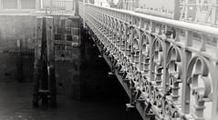 the beautiful style (Pixelchen1) Tags: nikon5500 nikonafs35mm114g bridge brücke water wasser schmiedeeisen wroughtiron old alt hamburg speicherstadt blackwhite schwarzweis