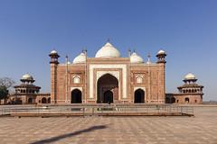 Mosque at the Taj Mahal (Mike Legend) Tags: india agra taj mahal mosque dome domes
