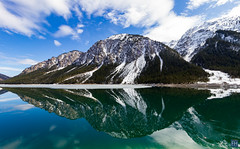 Plansee Austria (felix.hohlwegler) Tags: mirror outdoor outdoorphotography photography canon eos austria sky bluesky himmel blauerhimmer canoneos mountain maountains see sea bergsee mountainsee spiegelung wolken clouds
