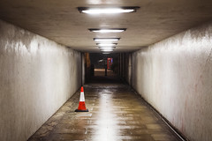 GLIMPSE OF LOVE (lorenzo.carmellini) Tags: london tunnel lorenzo carmellini photography night traffic cone pylons witches hat road highway safety construction cabin telephone light